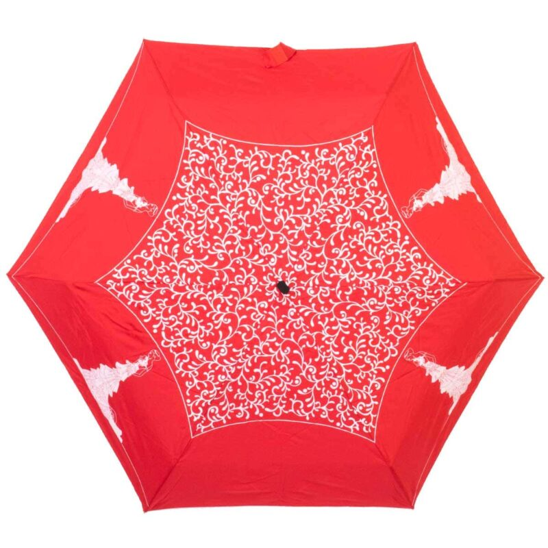 Мини зонт Три Слона механический красного цвета