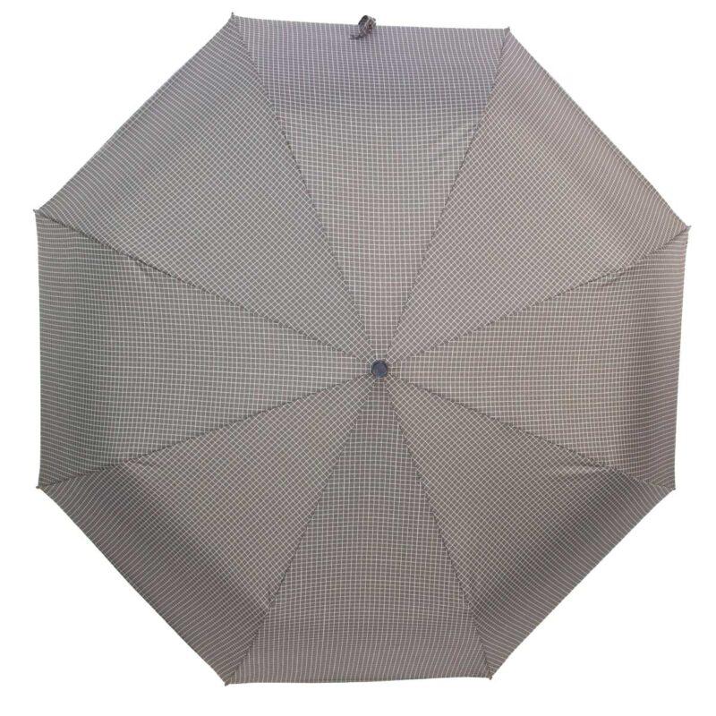Мини зонт коричневого цвета в клетку-Три Слона
