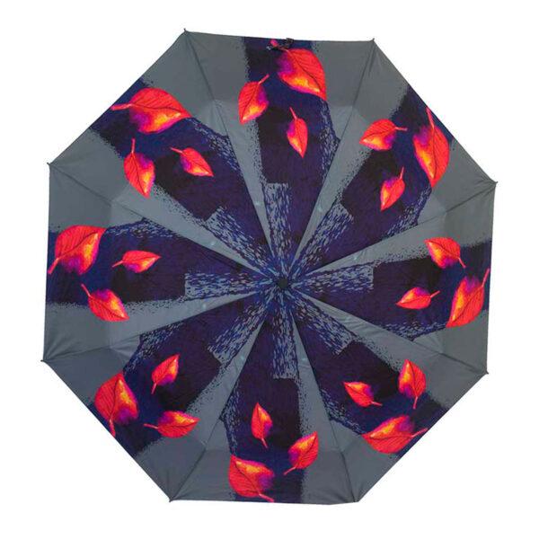 Зонт полный автомат цветочный принт