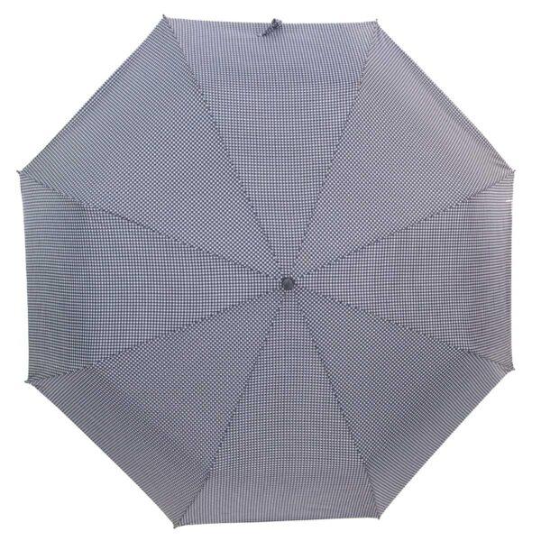 Зонт Три Слона мини в мелкую клетку серого цвета