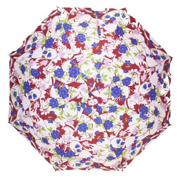 Зонт полуавтомат цветочный принт