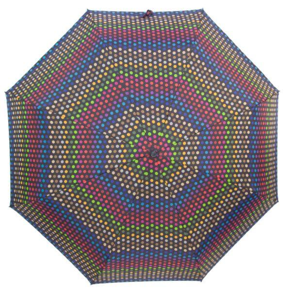 Мини зонт Три Слона механический-цветной горох