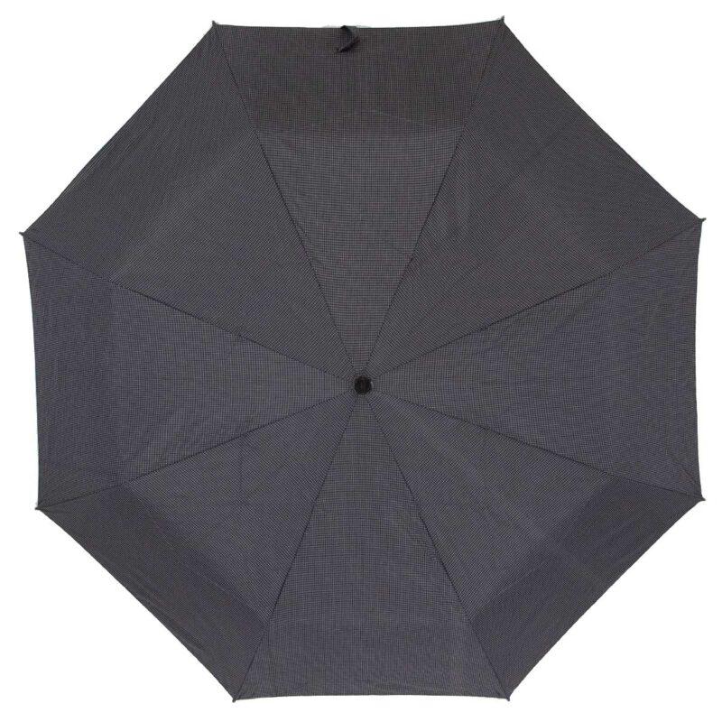 Мужской зонт Три Слона полный автомат черно-серого цвета