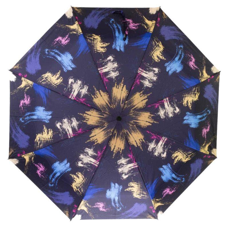 Зонт абстракция синего цвета