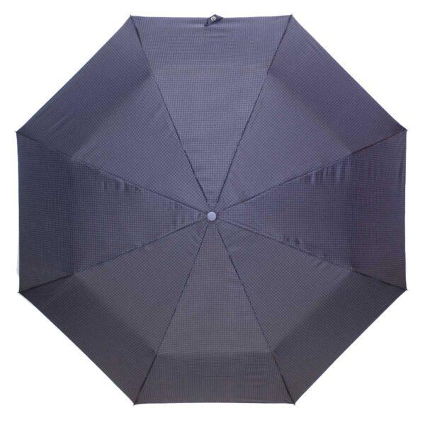 Зонт полуавтомат в мелкую гусиную лапку