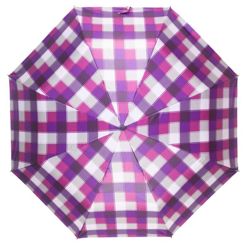 Складной зонт в клетку полуавтомат