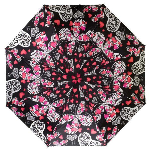 Женский зонт полный автомат бабочки
