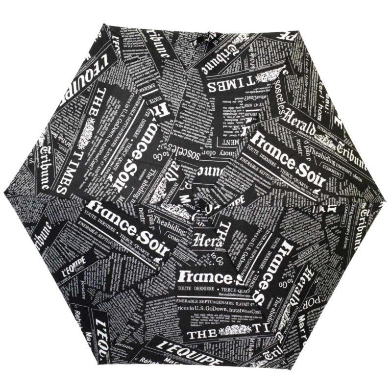 Мини зонт Три Слона механический черного цвета