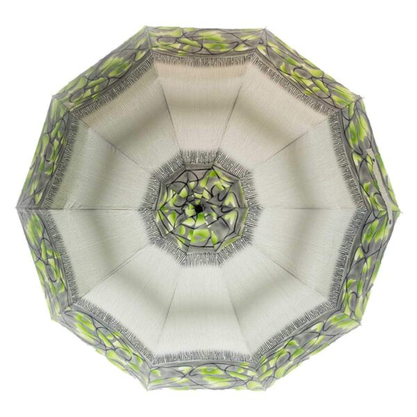 Женский зонт абстракция оливкового цвета полный автомат