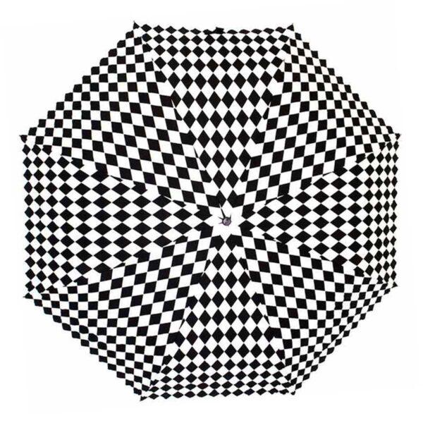 Женский зонт черно-белого цвета