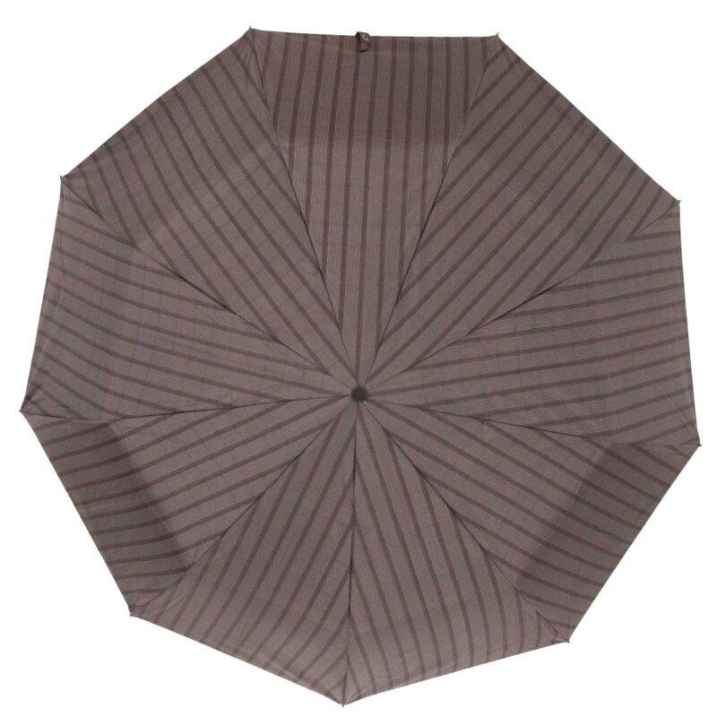 Мужской зонт полуавтомат в полоску