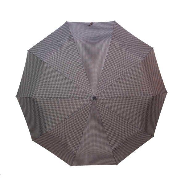 Мужской зонт Три Слона полный автомат в мелкую клетку