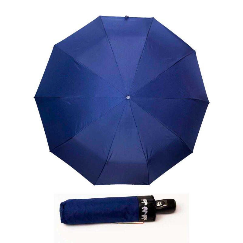 Двусторонний зонт полный автомат черно-синего цвета