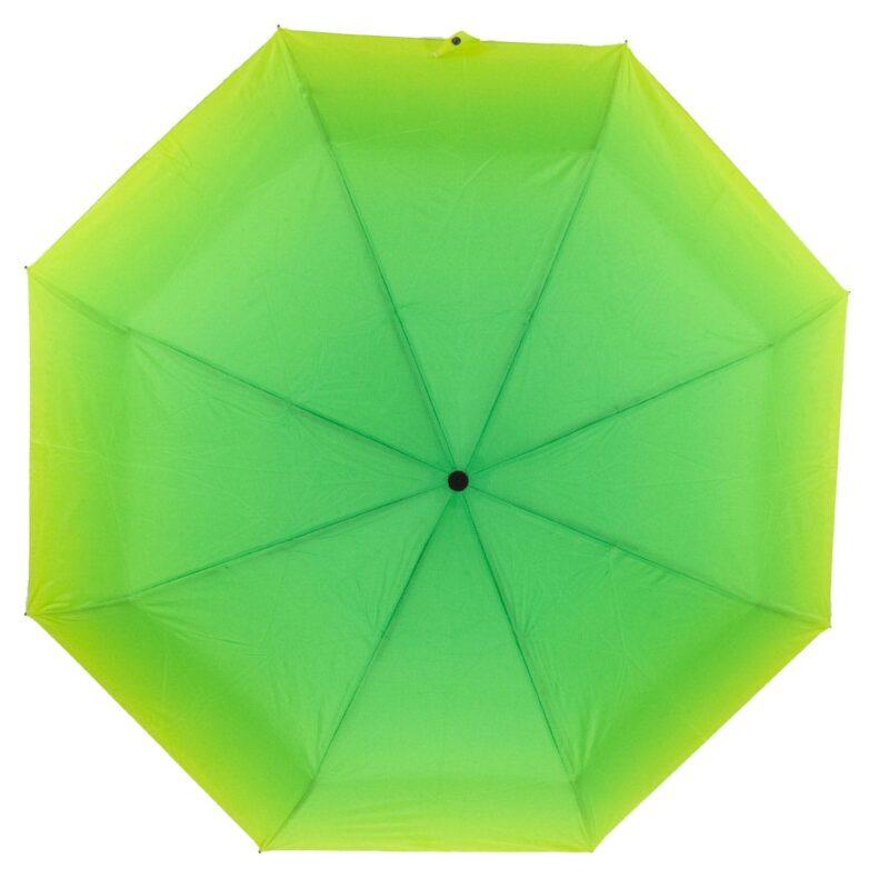 Зонт абстракция желто-зеленого цвета