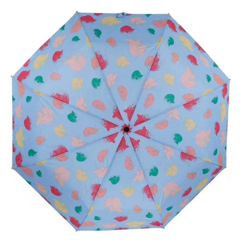 Зонт абстракция голубого цвета с принтом