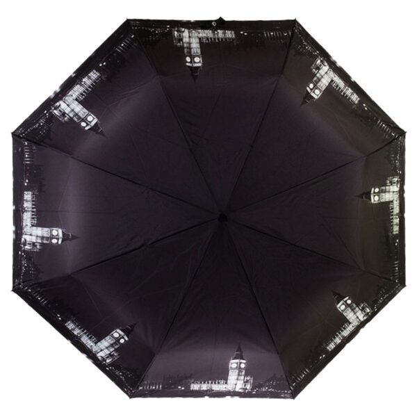Зонт черного цвета с принтом