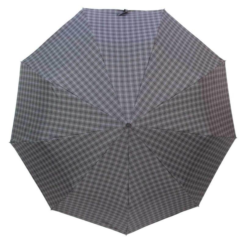 Мужской зонт полуавтомат в клетку