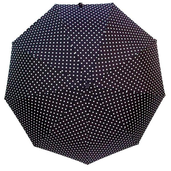 Складной зонт в горошек полуавтомат