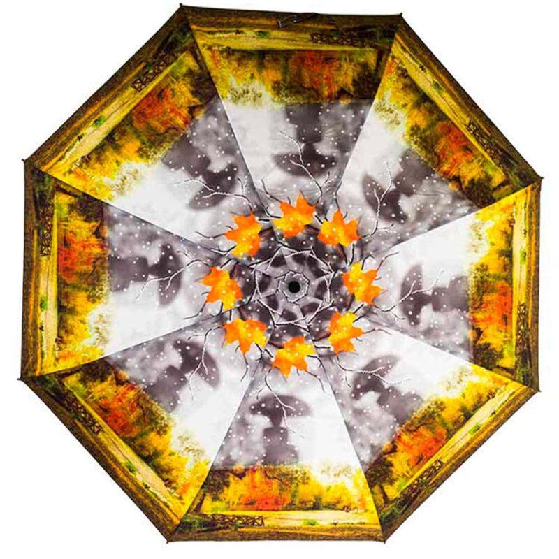 Зонт с осенним принтом