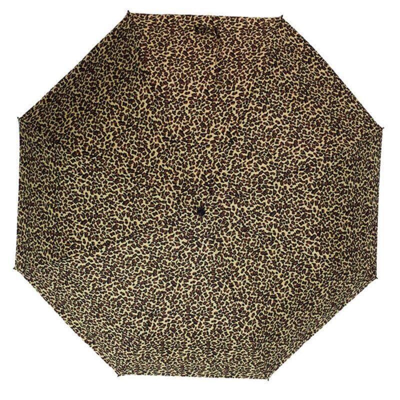 Мини зонт Три Слона механический леопардовый принт