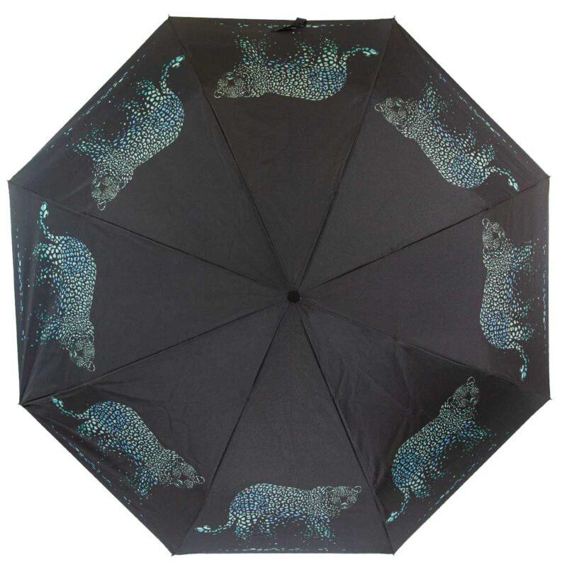 Женский зонт с принтом пантера полный автомат