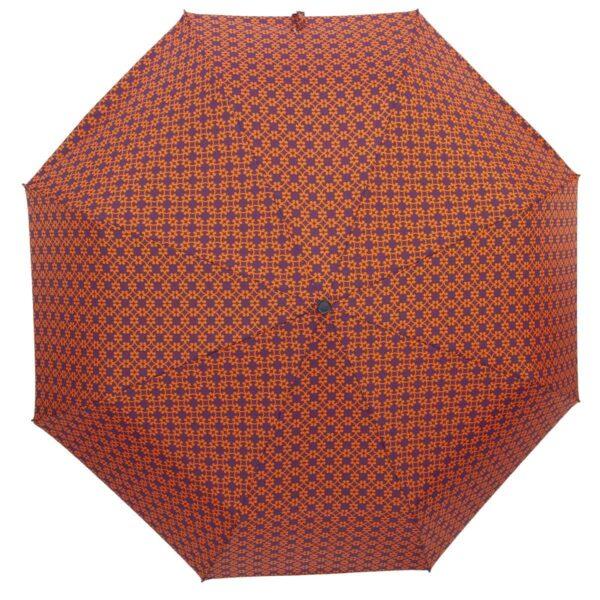 Мини зонт абстракция оранжевого цвета-Три Слона