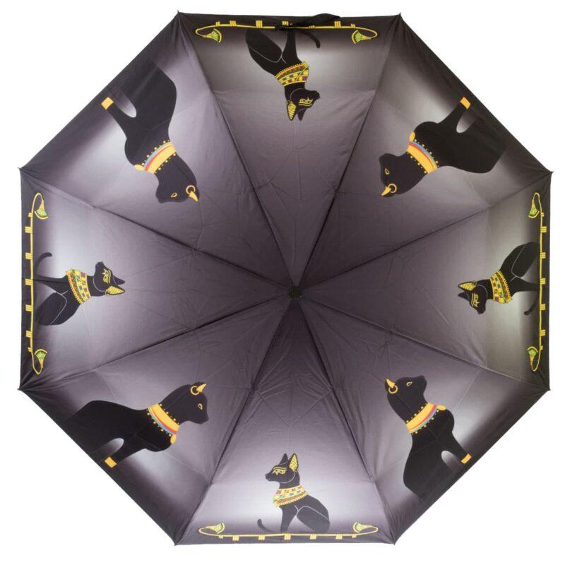 Женский зонт с принтом кошки полный автомат