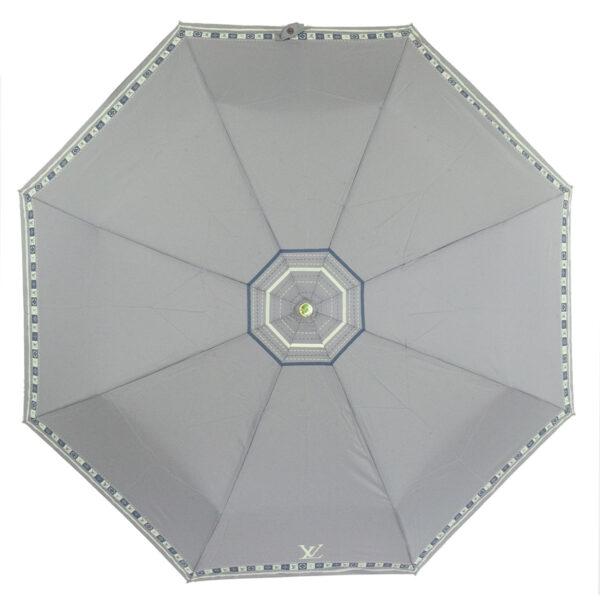 Женский зонт светло серого цвета полный автомат