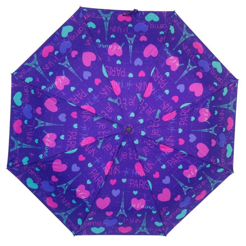 Зонт абстракция с принтом сердечки