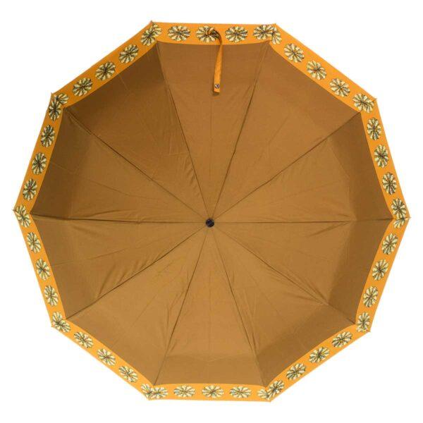 Женский зонт коричневого цвета полный автомат