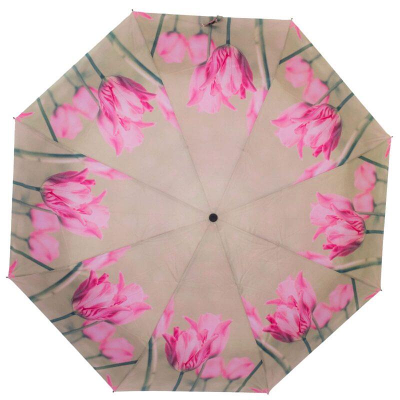 Зонт полный автомат-розовая магнолия
