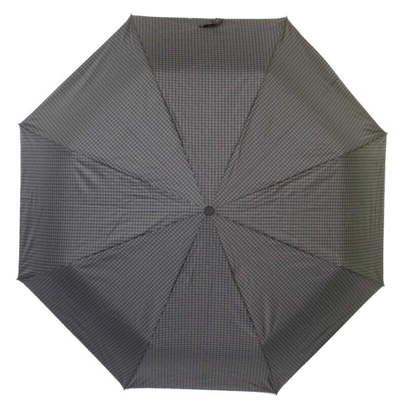Зонт полуавтомат черно серого цвета