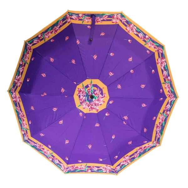 Женский зонт Три Слона фиолетового цвета полный автомат