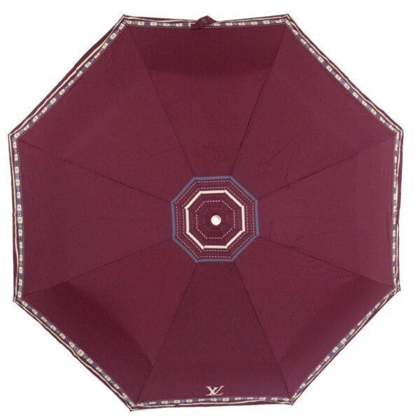 Женский зонт бордового цвета полный автомат