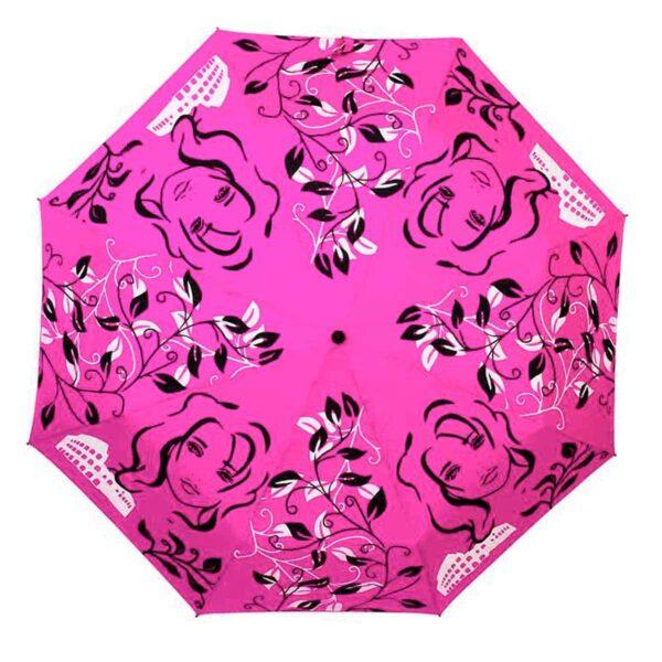 Женский зонт розового цвета