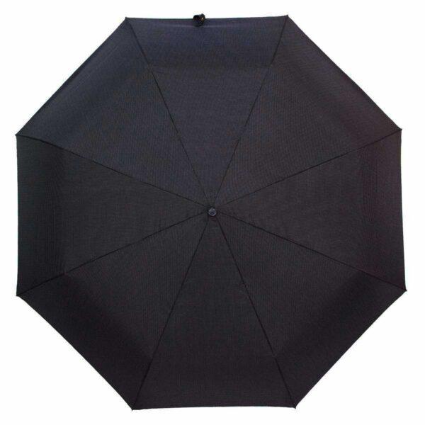 Женский зонт три слона черно-серого цвета в мелкую клетку