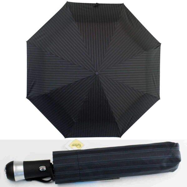 Зонт с фонариком полный автомат в полоску
