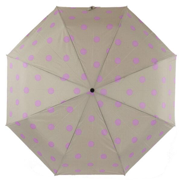 Зонт Три Слона мини в горошек бежевого цвета