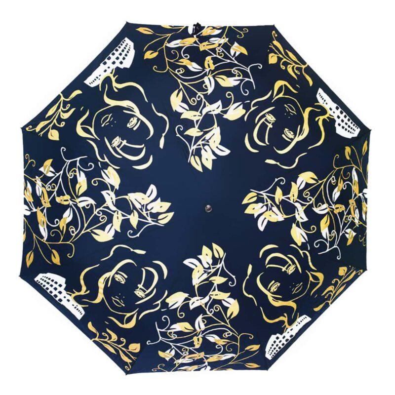 Женский зонт синего цвета