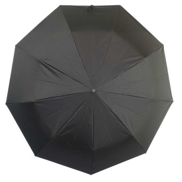 Зонт полуавтомат ручка-крюк черного цвета