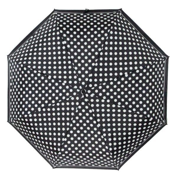 Мини зонтик в горошек черного цвета-Три Слона