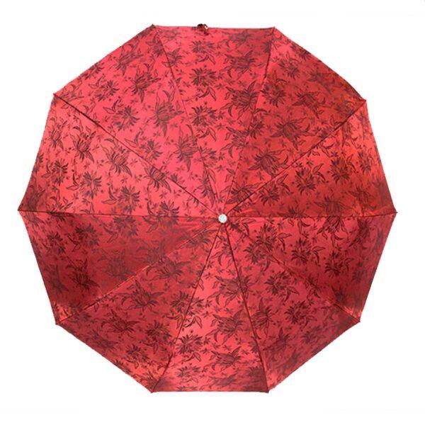 Зонт жаккард бордового цвета