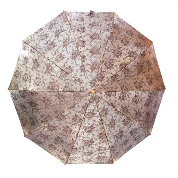 Зонт жаккард золотисто-серебристого цвета