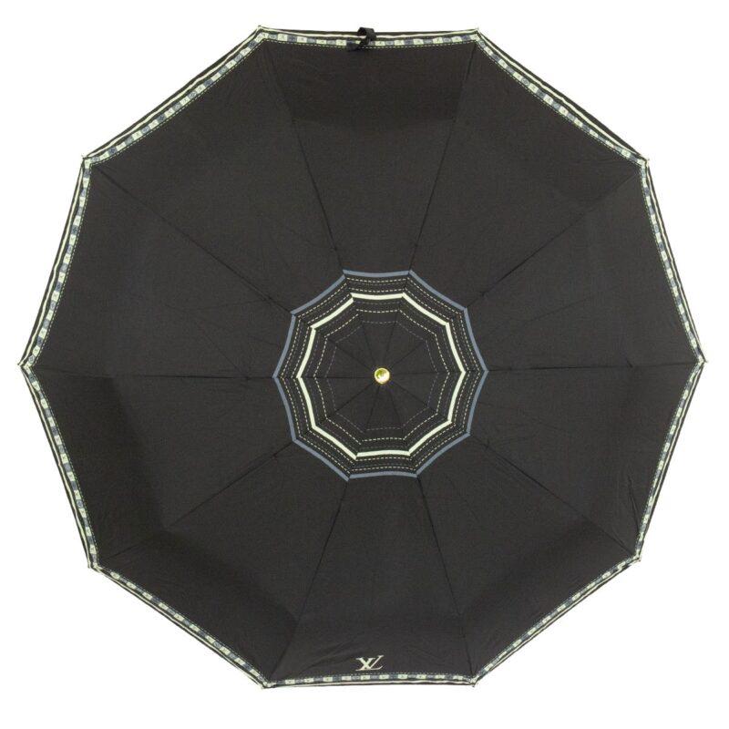 Женский зонт черного цвета полный автомат