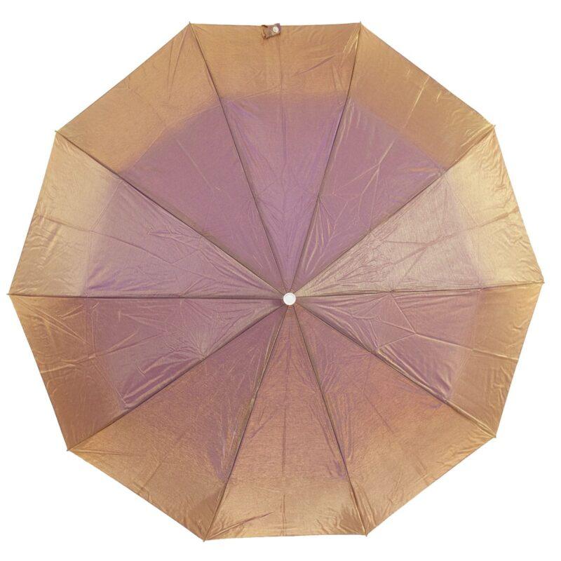 Женский зонт золотого цвета хамелеон