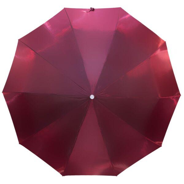 Женский зонт бордового цвета хамелеон
