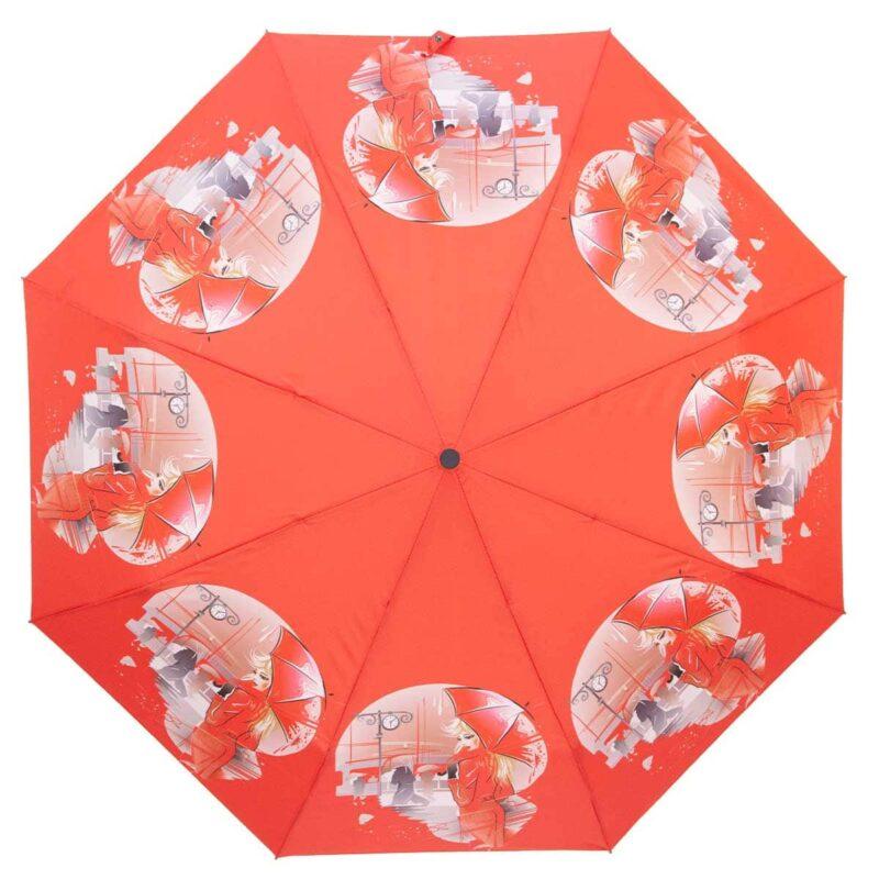 Зонт полуавтомат красного цвета