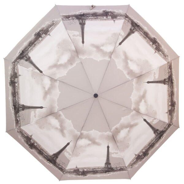 Зонт полуавтомат серого цвета