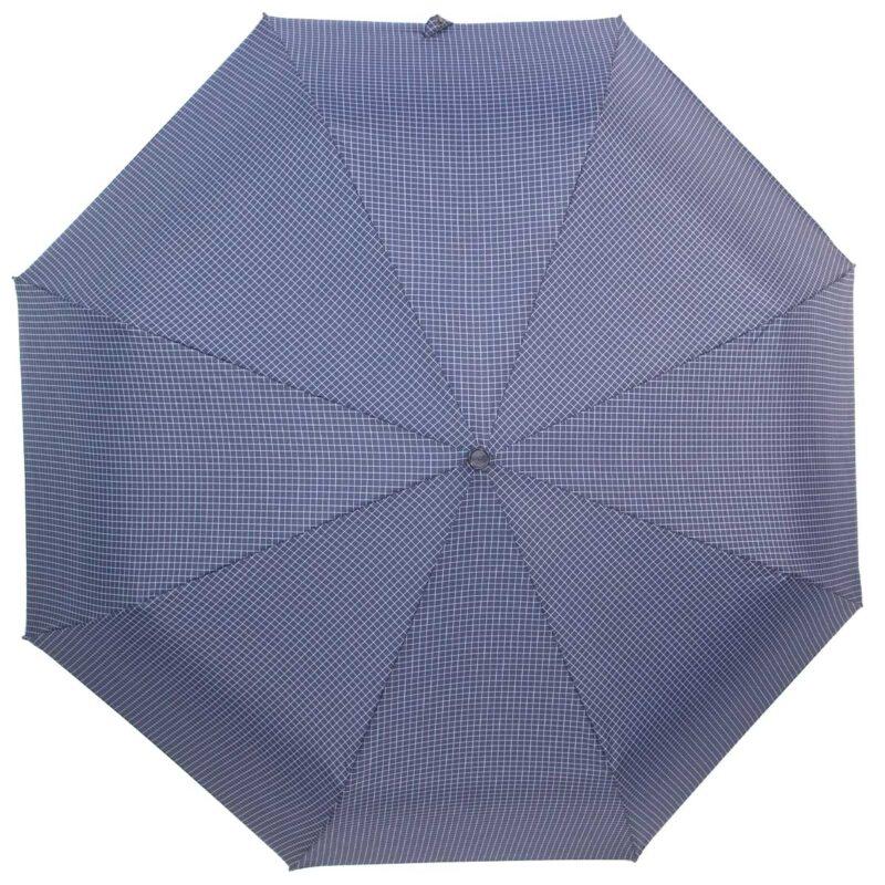 Мини зонт синего цвета в клетку