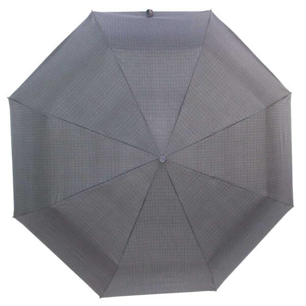 Мини зонт черно серого цвета в клетку